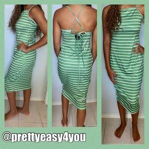 Brand new polyester stripe sundress.